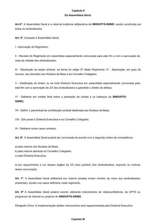 Regimento Interno SINDUFFS-2