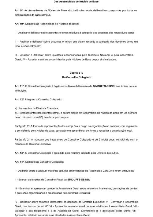 Regimento Interno SINDUFFS-3