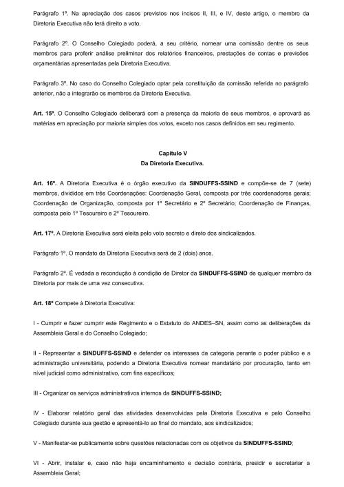 Regimento Interno SINDUFFS-4