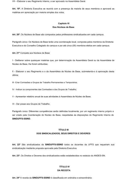 Regimento Interno SINDUFFS-5