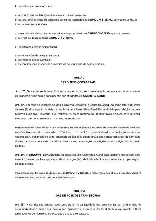 Regimento Interno SINDUFFS-6